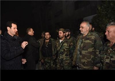 زیارة الرئیس الأسد إلأى حی جوبر لیلة رأس السنة المیلادیة