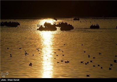 Zayanderud River in Iran's Isfehan Province