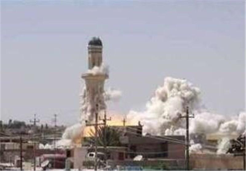 """عصابات """"داعش"""" تنسف احد أقدم مساجد الموصل التاریخیة"""