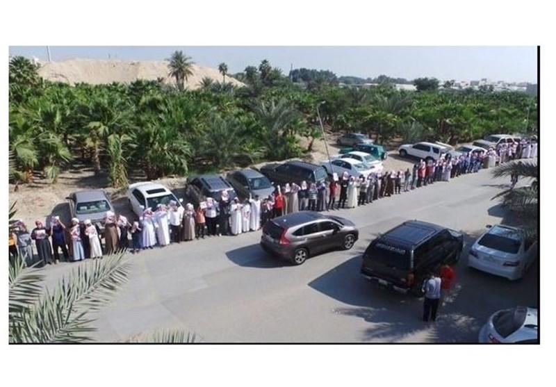 سلسلة بشریة فی ارجاء البحرین تضامنا مع الامین العام لجمعیة الوفاق الشیخ علی سلمان +صور