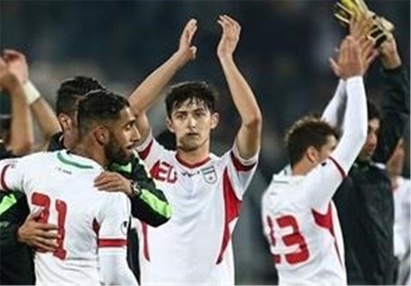 فوز المنتخب الایرانی بکرة القدم على نظیره العراقی