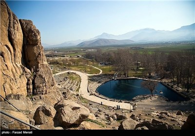 Bisutun Inscription near Iranian Western City of Kermanshah