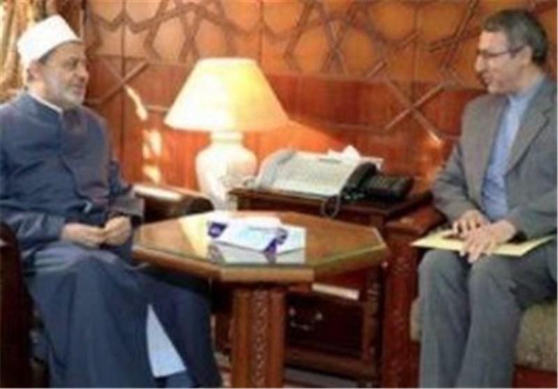 شیخ الازهر یشکر الجمهوریة الاسلامیة على دعوته لحضور مؤتمر الوحدة الاسلامیة فی طهران