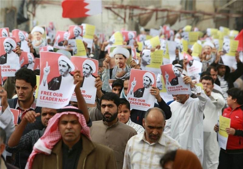 تظاهرات حاشدة فی الدراز ومناطق أخرى تندیداً باعتقال الشیخ علی سلمان