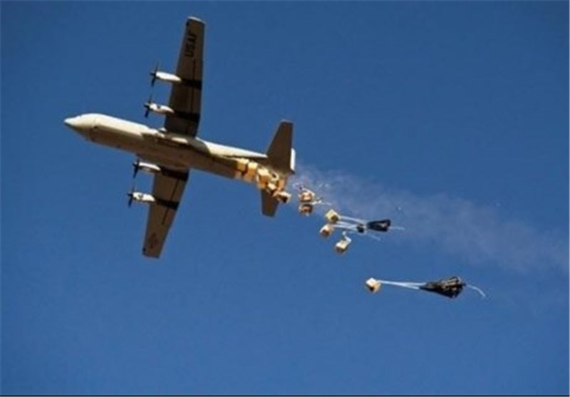 العثور على أسلحة سعودیة القیت من طائرات مجهولة لداعش
