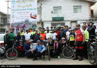 Cycling for Clean Air in Iran's Northern Province of Gilan