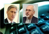 Zarif Consults with British Counterpart on Iran's Nuclear Issue