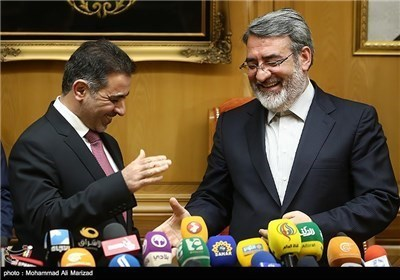 وزیر الداخلیة یستقبل نظیره العراقی