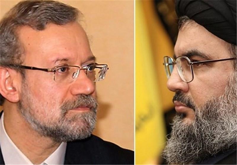 تسلیت لاریجانی به دبیرکل حزبالله لبنان