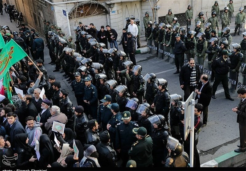 Protesting People in Iran Ask for Expulsion of French Envoy