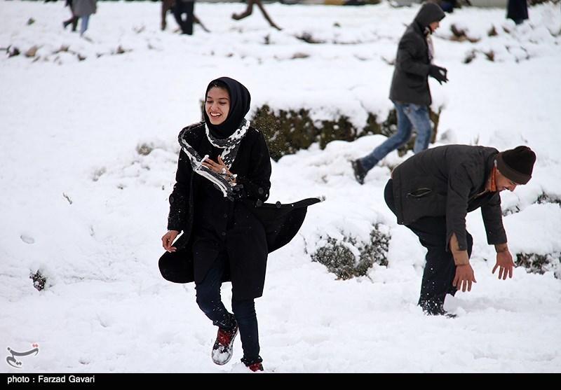 نخستین بارش برف زمستانی در کرمان