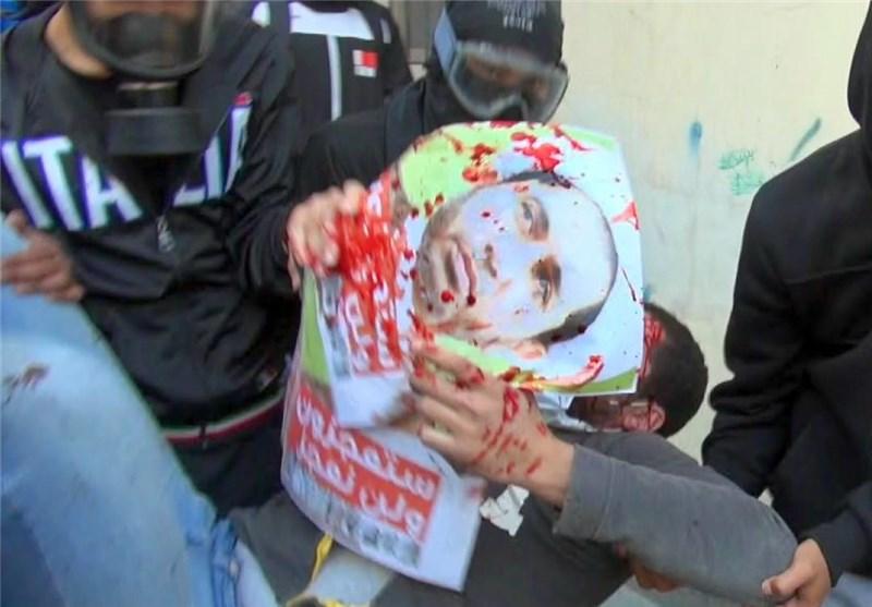 القوات الخلیفیة تطلق النار بصورة مباشرة علی أحد أنصار الشیخ سلمان وتصیبه فی رأسه + فیدیو