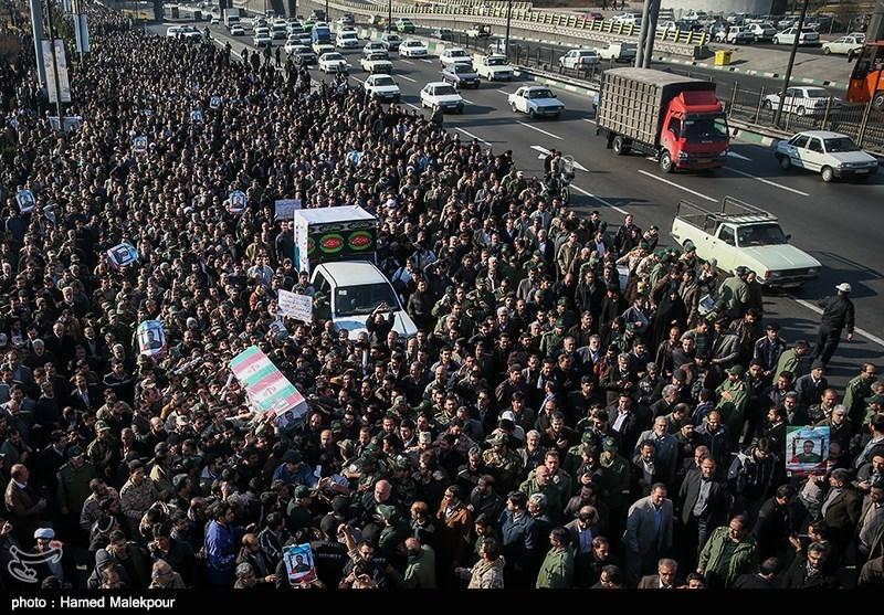 Funeral Procession of Slain Iranian Commander Held in Tehran
