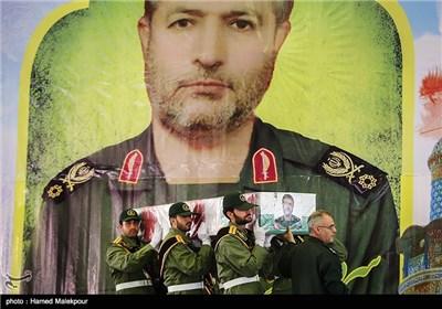 طهران تشهد مراسم تشییع جثمان الشهید العمید محمد علی الله دادی