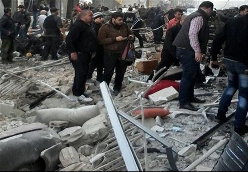 5 شهداء و35 جریحا فی تفجیر إرهابی بحی عکرمة فی مدینة حمص وسط سوریا+صور