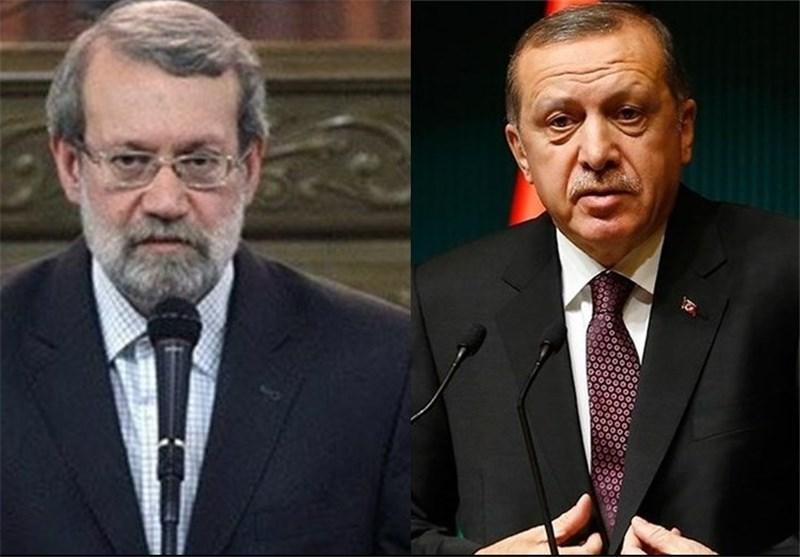 Iran's Speaker, Turkey's President Stress Stronger Bilateral Ties