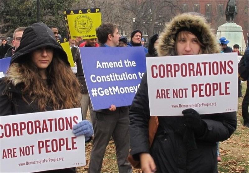 احتجاج أهالی واشنطن علی غرفة التجارة الامریکیة + صور
