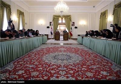 وزیر الخارجیة ونظیرته الکرواتیة یعقدان مؤتمرا صحفیا مشترکا فی طهران