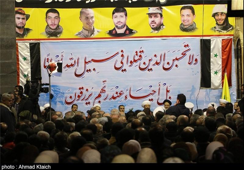 مجلس عزاء على أرواح شهداء القنیطرة فی العاصمة السوریة دمشق+ صور