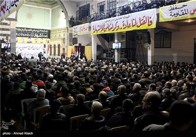 مجلس عزاء على أرواح شهداء القنیطرة فی العاصمة السوریة دمشق