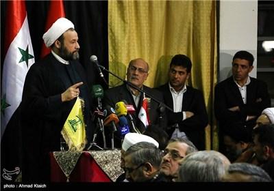 مراسم ختم شهدای ایران و حزب الله در قنیطرة در دمشق - سوریه