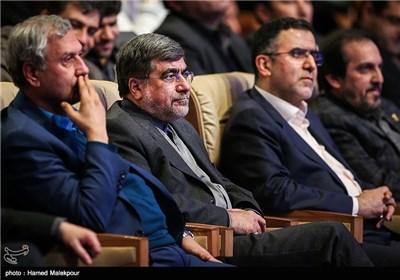 علی جنتی وزیر فرهنگ و ارشاد در مراسم افتتاحیه سی و سومین جشنواره بینالمللی فیلم فجر