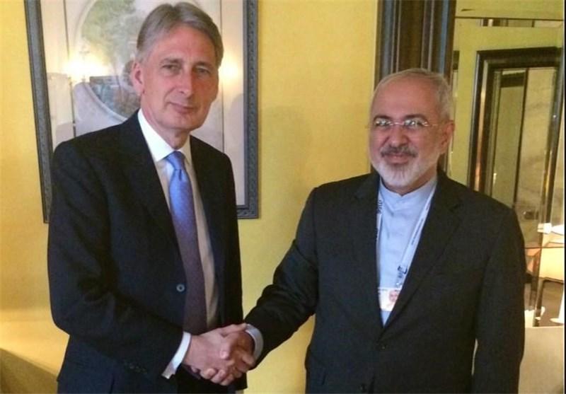 Iranian, British FMs Hold Talks in Brussels