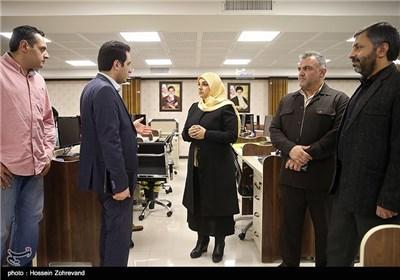 الإعلامیة زینب الصفار تزور وکالة تسنیم