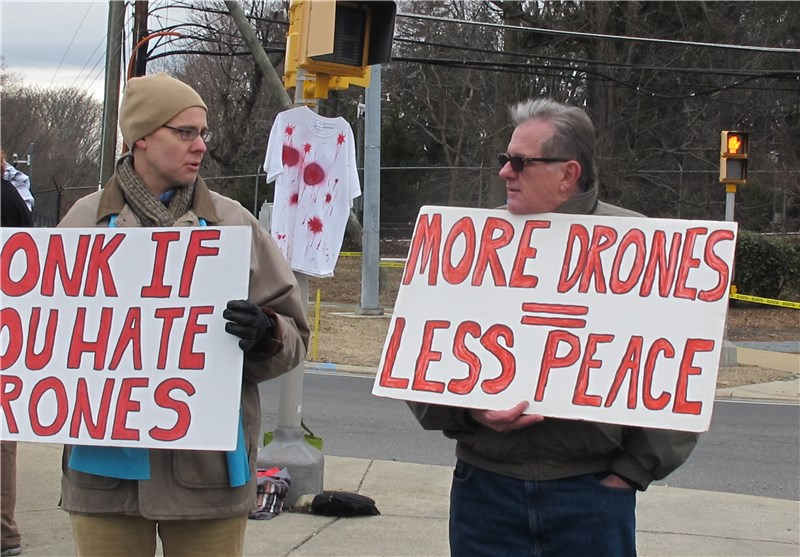 Protesters Hold Rally outside CIA Headquarters in Virginia