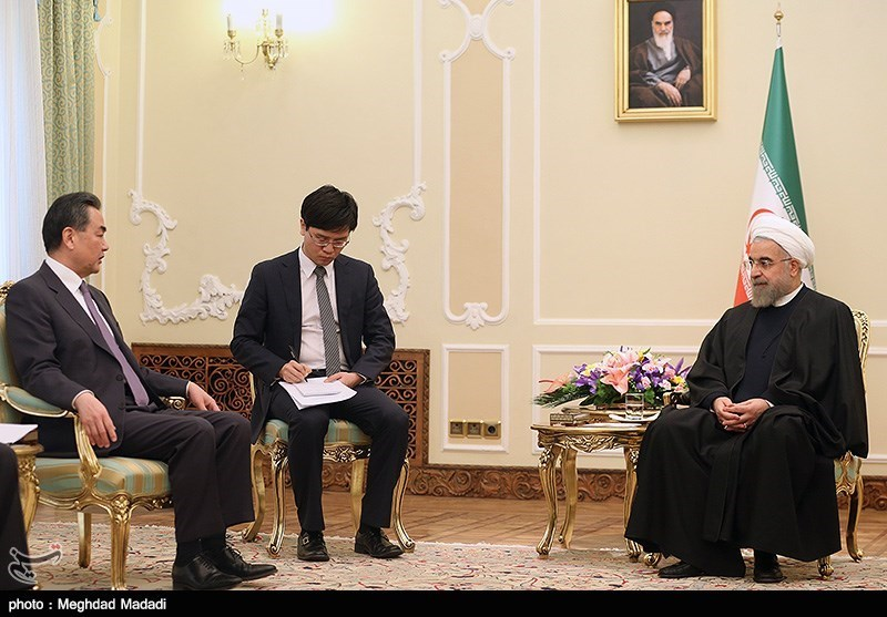 Chinese FM meets president Rouhani - IN PHOTOS