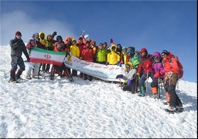 تیم ملی کوهنوردی امید ایران در قله آرارات