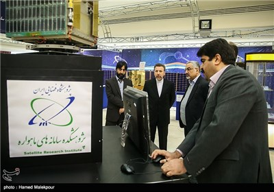 Iran's President Hassan Rouhani Visits Exhibition of Space Industry