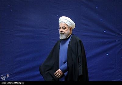 حجتالاسلام حسن روحانی رئیس جمهور در مراسم بزرگداشت روز فناوری فضایی