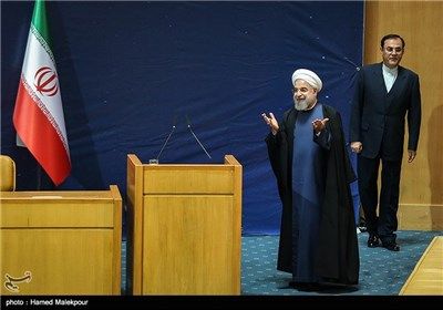 حجتالاسلام حسن روحانی رئیس جمهور در پایان مراسم بزرگداشت روز فناوری فضایی