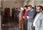 برگزاری نماز وحدت در بقعه امامزاده «پیر عمر» از نوادگان امام زینالعابدین(ع)
