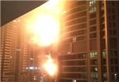 Thousands Evacuated after Fire Engulfs Dubai Tower
