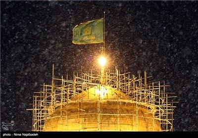 هطول الامطار فی مدینة مشهد المقدسة