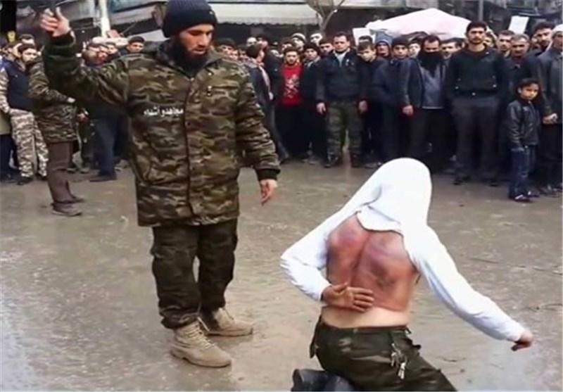 """""""داعش"""" یجلد شخص بتهمة """"عدم إرتداء زوجته للنقاب""""شمال شرق سوریا"""