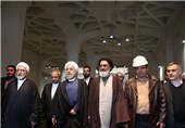 رئیس جمهور از طرح توسعه حرم کریمه اهل بیت (س)بازدید کرد