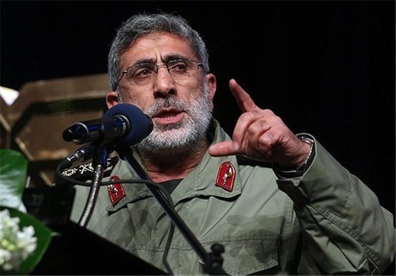 الجنرال قاآنی: المقاومة هی السبیل الوحید لإجهاض المخططات الأمریکیة فی المنطقة