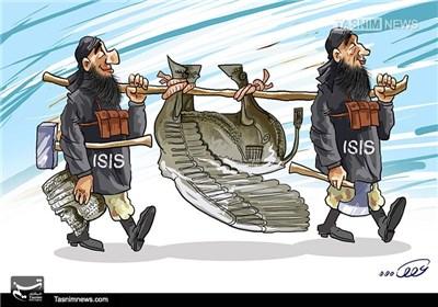 کاریکاتور/ داعش بر علیه تاریخ