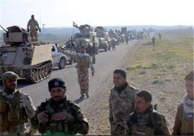 خیمه نیروهای ارتش عراق پشت دروازههای شهر تکریت
