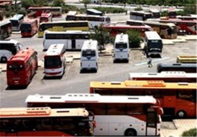 اخبار اربعین 98|استقرار 590 دستگاه اتوبوس در پایانه موقت همدان برای انتقال زائران اربعین