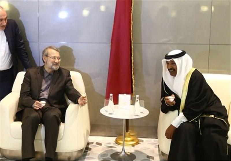 Larijani Urges Closer Parliamentary Ties between Iran, Qatar
