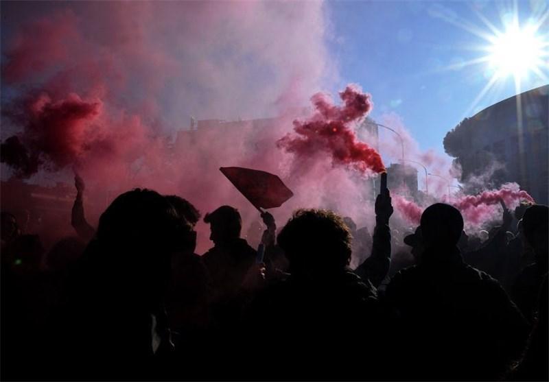 تظاهرات دانشجویان ایتالیایی در اعتراض به اصلاحات نظام آموزشی