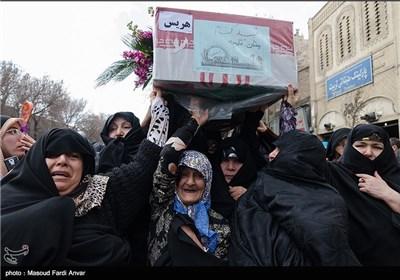 مراسم تشییع شش شهید گمنام دفاع مقدس - تبریز