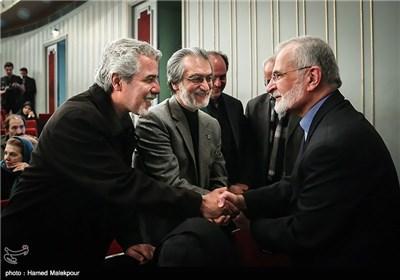 کمال خرازی، مجید انتظامی و احمدرضا درویش در همایش تجلیل از جهادگران عرصه فرهنگ ، هنر و رسانه