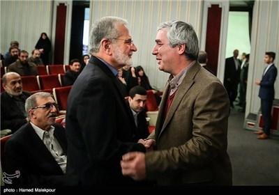 ابراهیم حاتمیکیا و کمال خرازی در همایش تجلیل از جهادگران عرصه فرهنگ ، هنر و رسانه