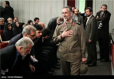 سردار محمد شیرازی رئیس دفتر نظامی فرمانده کل قوا در همایش تجلیل از جهادگران عرصه فرهنگ ، هنر و رسانه