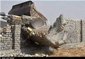 تخریب ساخت و سازهای غیرمجاز در اردبیل آغاز شد